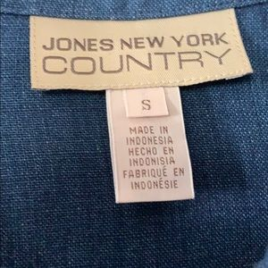 Jones New York Jackets & Coats - New Jones New York Country Linen Blazer Small